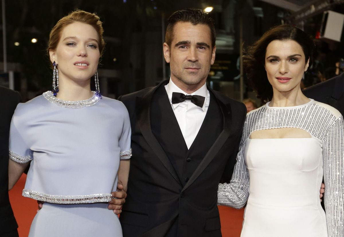 RACHEL WEISZ and LEA SEYDOUX at the The Lobster Premiere in Cannes