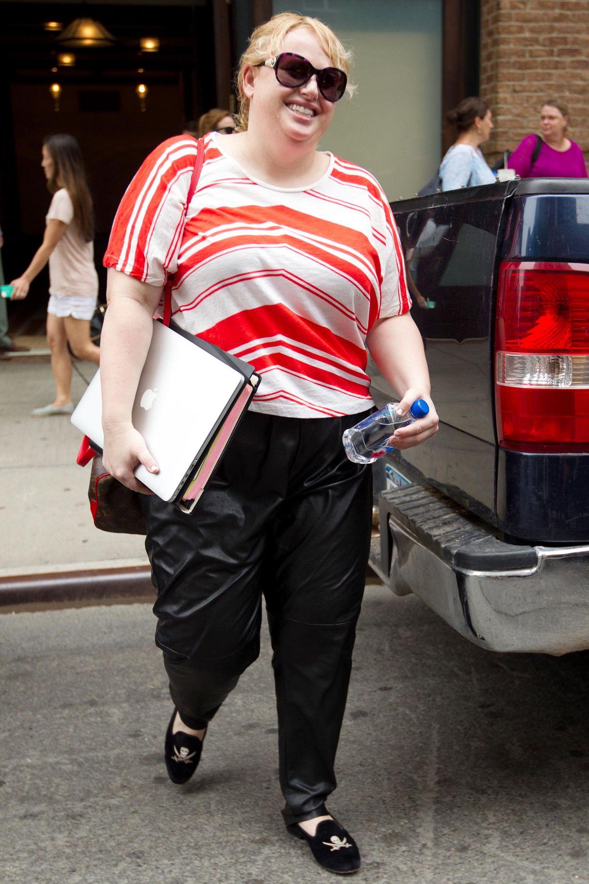 REBEL WILSON Leaves Her Hotel in New York 05/28/2015