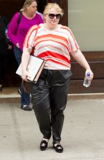 REBEL WILSON Leaves Her Hotel in New York 05/28/2015