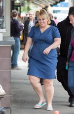 REBEL WILSON on the Set of How to be Single in New York 05/20/2015