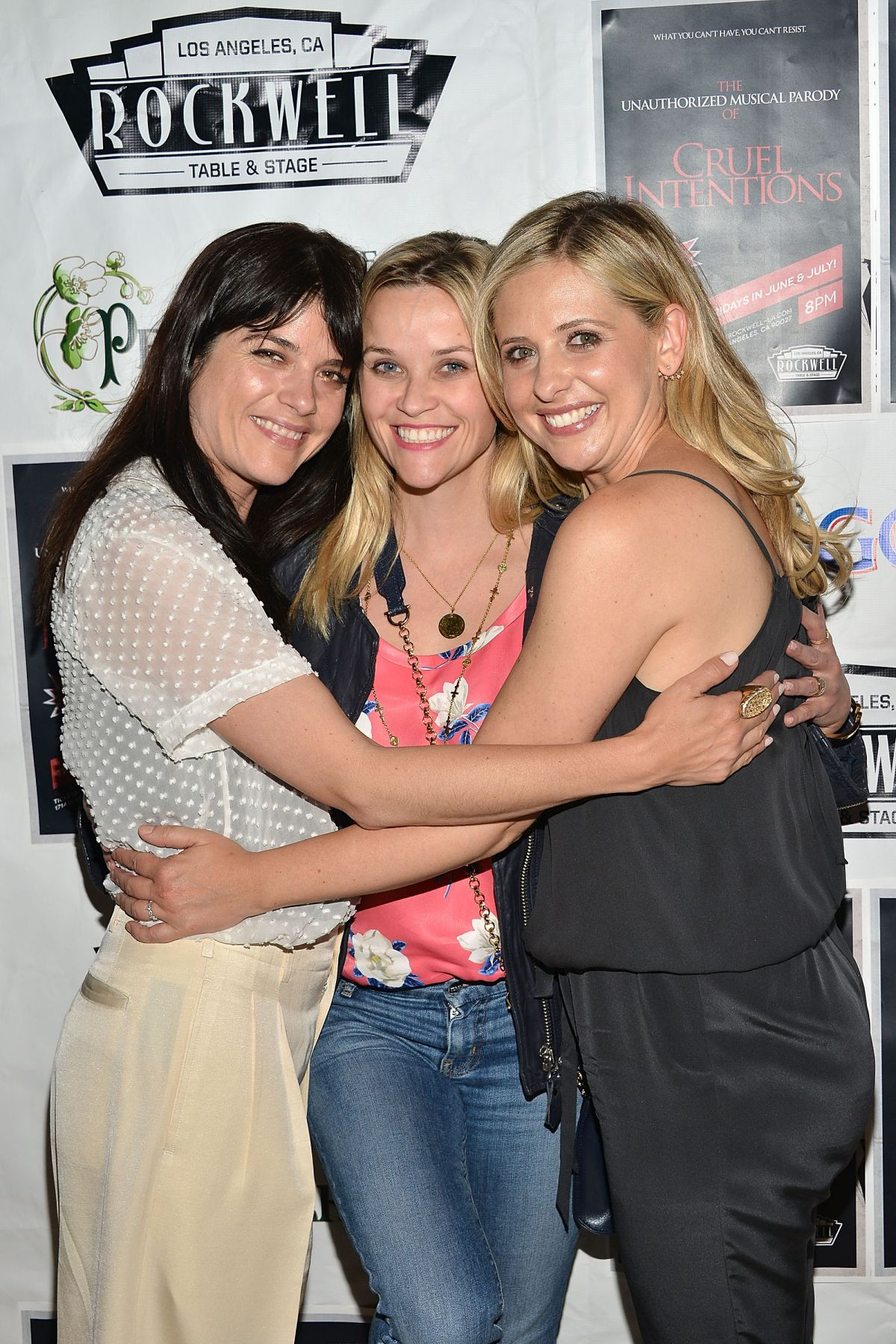 REESE WITHERSPON and SARAH MICHELLE GELLAR at Cruel Intentions Musical Parody in Los Angeles