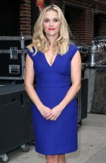 REESE WITHERSPOON Arrives at Late Show with David Letterman in New York 05/05/2015