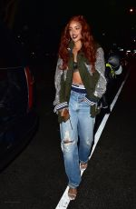 RIHANNA Arrives at Da Silvano Restaurant in New York 05/24/2015