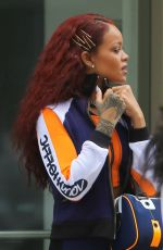 RIHANNA in Tights Leaves Her Appartment in New York 05/13/2015
