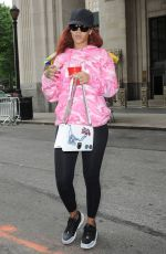 RIHANNA in Tights Out in New York 05/18/2015