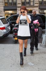 RIHANNA Out and About in New York 05/03/2015