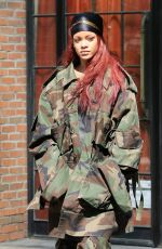 RIHANNA Out and About in New York 05/15/2015