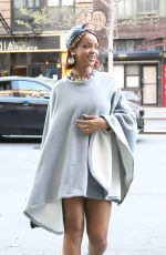 RIHANNA Out in New York 05/06/2015
