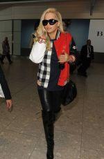 RITA ORA Arrives at Heathrow Airport in London 05/18/2015