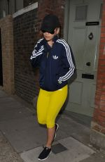 RITA ORA in Leggings Out and About in Notting Hill 05/27/2015