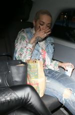 RITA ORA Leaves a Party at a Friend