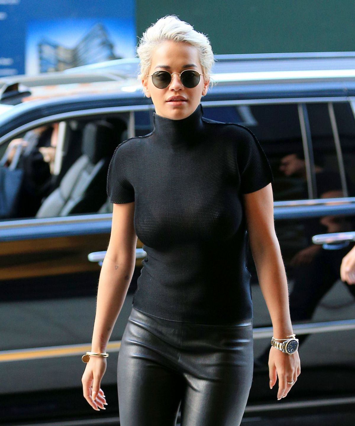 RITA ORA Out and About in New York 05/03/2015