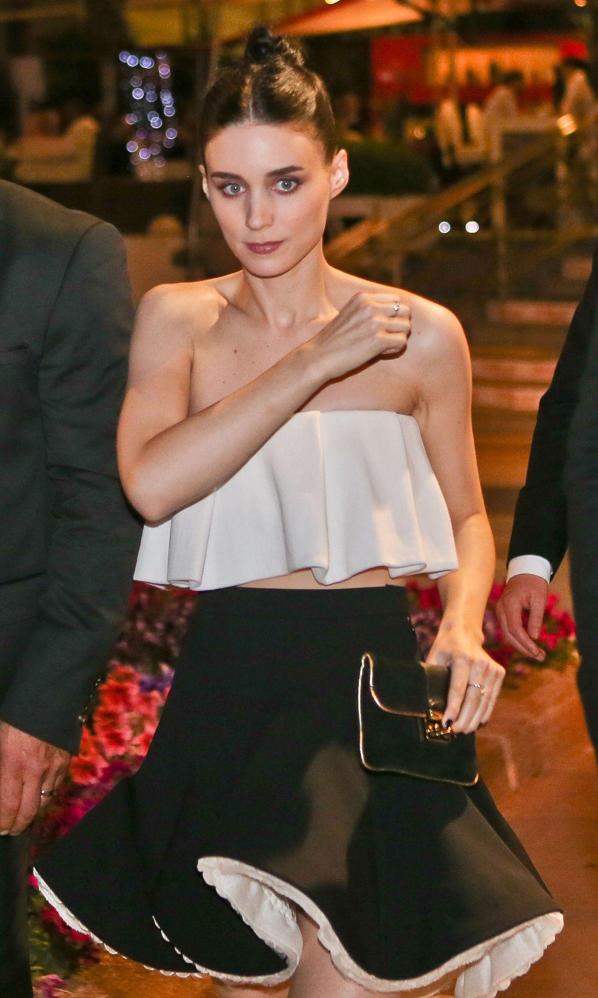 ROONEY MARA Leaves Baoli Beach Restaurant in Cannes