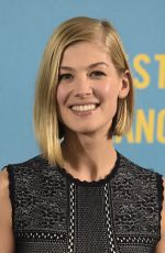 ROSAMUND PIKE at What We Did on Our Holiday Photocall in Madrid