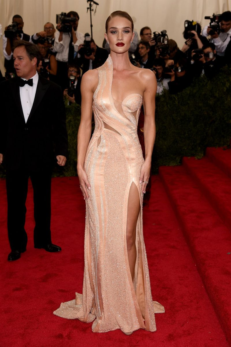 ROSIE HUNTINGTON-WHITELEY at MET Gala 2015 in New York