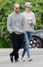ROSIE HUNTINGTON-WWHITELEY and Jason Statham Out in Los Feliz