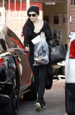 RUMER WILLIS in Tights at Dancing with the Stars Rehearsals in Hollywood 05/13/2015