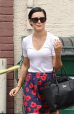 RUMER WILLIS Leaves DWTS Rehersal in Hollywood 05/07/2015