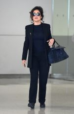 SALMA HAYEK Arrives at JFK Airport in New York 05/02/2015