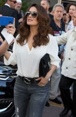 SALMA HAYEK Leaves Le Grand Palais in Cannes 05/16/2015