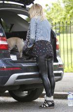 SARAH HARDING Walks Her Dog Out in Primrose Hill 05/07/2015