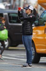 SARAH SILVERMAN Taking a Photos in New York 04/28/2015
