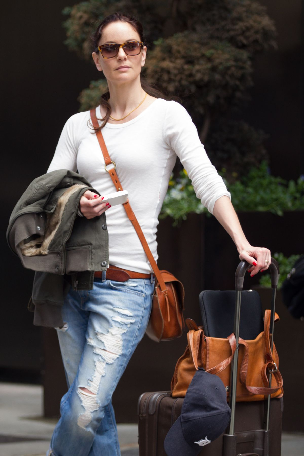 SARAH WAYNE CALLIES Leaves Her Hotel in Manhattan 05/15/2015