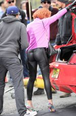 SCARLETT JOHANSSON at Saturday Night Live Set in New York