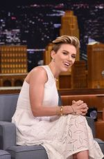 SCARLETT JOHANSSON at The Tonight Show in New York