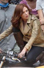 SCARLETT JOHANSSON on the Set of Captain America: Civil War in Atlanta 05/15/2015