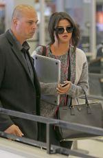 SELENA GOMEZ Arrives at JFK Airport in New York 05/001/2015