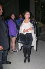 SELENA GOMEZ Out for Dinner in New York 05/03/2015