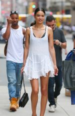 SHANINA SHAIK Out and About in New York 05/05/2015