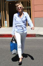 SHARON STONE Leaves a Nails & Spa in Beverly Hills