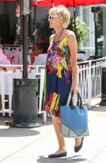 SHARON STONE Out and About in Los Angeles 04/29/2015