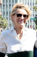 SHARON STONE Out Shopping in Los Angeles 0418/2015