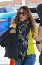 SOFIA VERGARA Arrives at LAX Airport in Los Angeles 05/16/2015