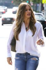 SOFIA VERGARA in Ripped Jeans Out in Beverly Hills 05/23/2015