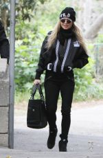 STACY FERGIE FERGUSON Leaves a Park in Brentwood 05/22/2015