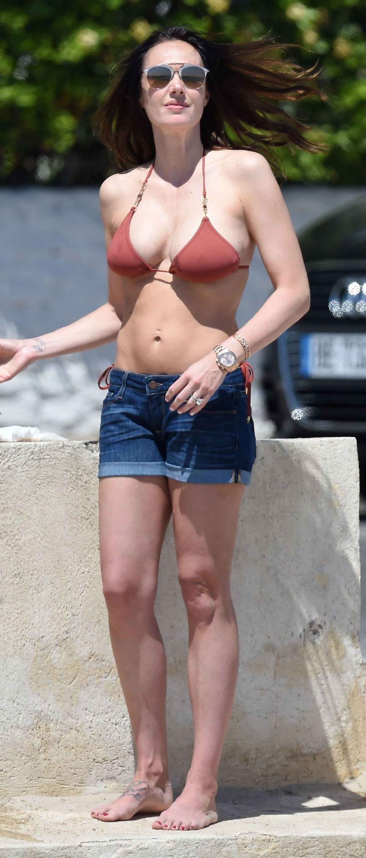 TAMARA ECCLESTONE in Bikini Top at a Beach in France