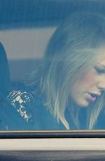 TAYLOR SWIFT and Calvin Harris Leaving Her Home in Los Angeles