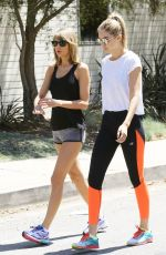 TAYLOR SWIFT and GIGI HADID Out for a Walk in Beverly Hills