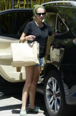 TERESA PALMER in Jeans Shorts Out in Los Angeles 04/30/2015