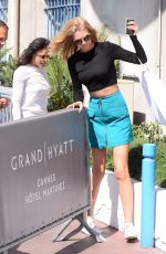 TONI GARRN Arrives at Hotel Martinez in Cannes 05/18/2015