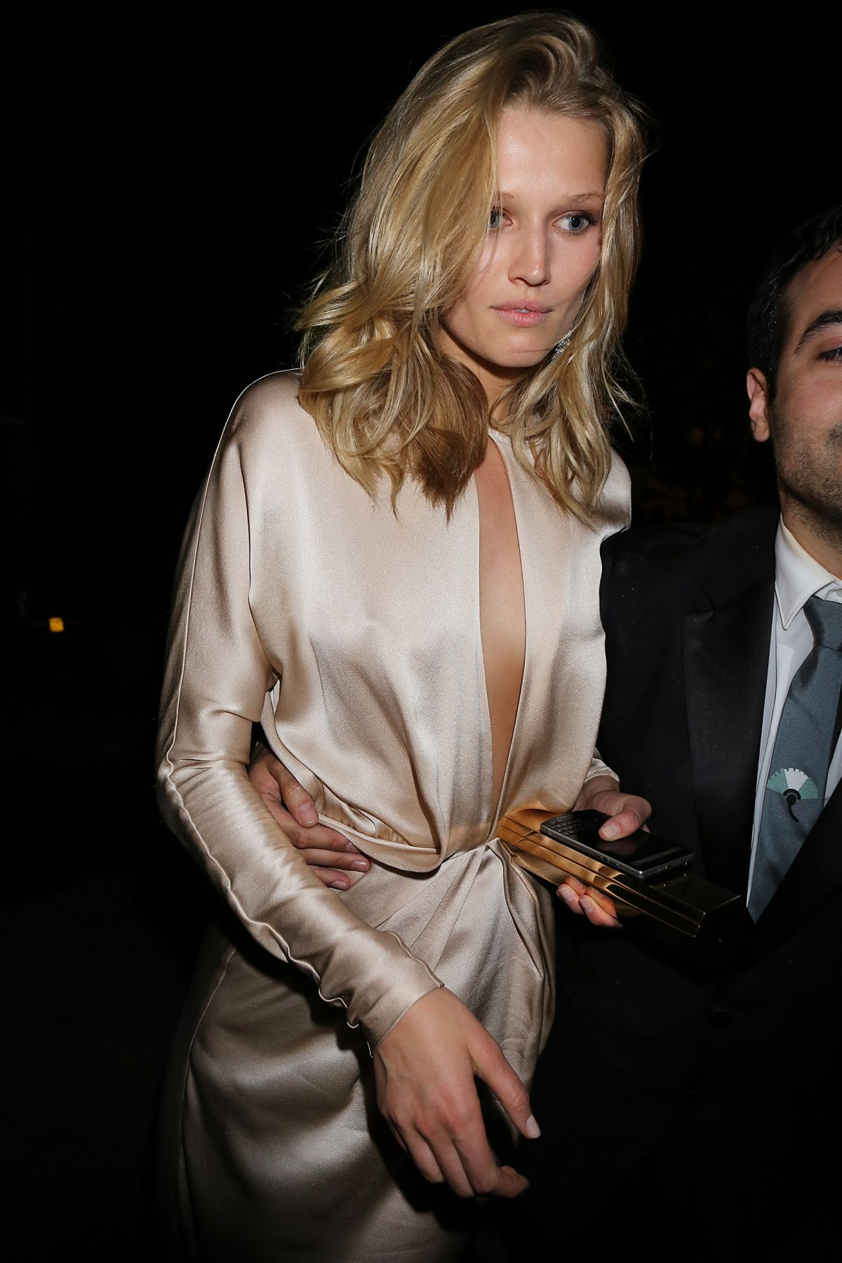 TONI GARRN Leaves Chopard Party in Cannes