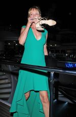 UMA THURMAN Arrives at a Boat Party in Cannes 05/17/2015