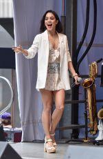 VANESSA HUDGENS at #starsinthealley Outdoor Concert Featuring Darren Criss in New York