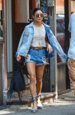 VANESSA HUDGENS in Shorts Leaves Her Apartment in New York 05/30/2015