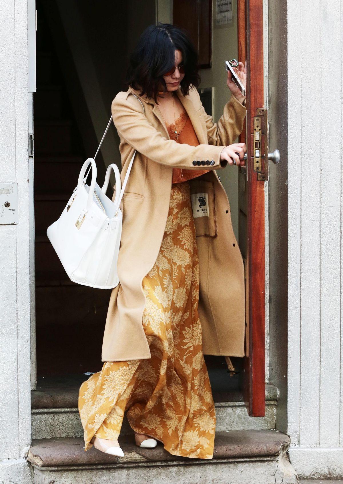 VANESSA HUDGENS Leaves Her Apartment in New York 04/30/2015