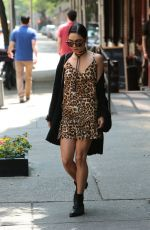 VANESSA HUDGENS Leaves Her Apartment in New York 05/16/2015